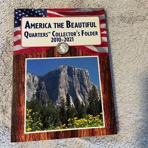 Empty America quarters collectors folder 2010-2021